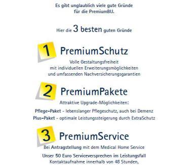 Viele Gute Gründe für die PremiumBU